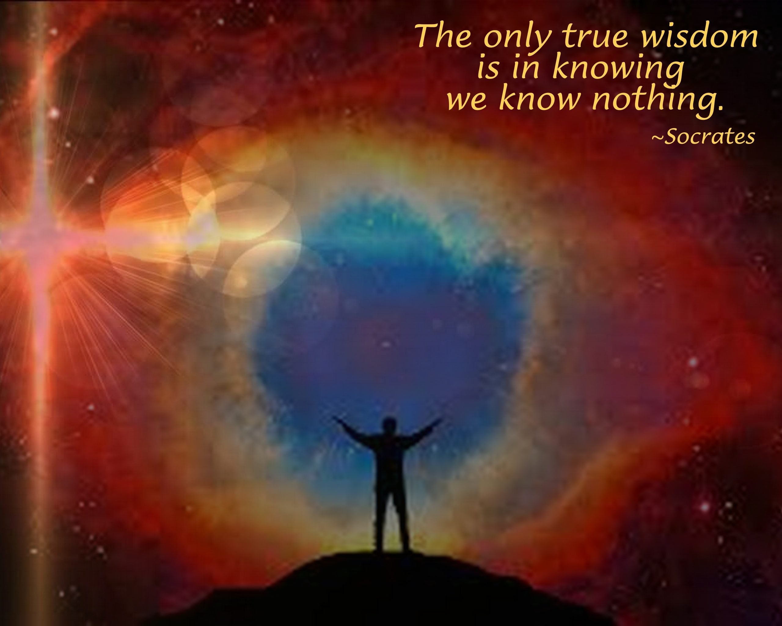 """The only true wisdom is in knowing we know nothing."" Join us at Forum!"