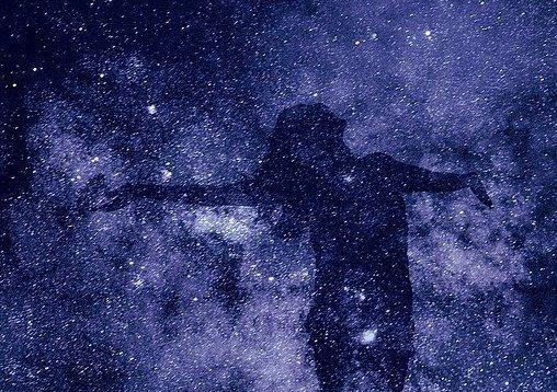 Silhouette Be Human Spirituality Creation Universe